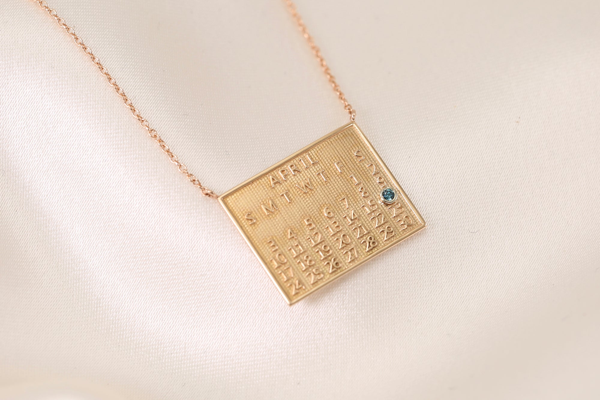 Save the Date Calendar Necklace