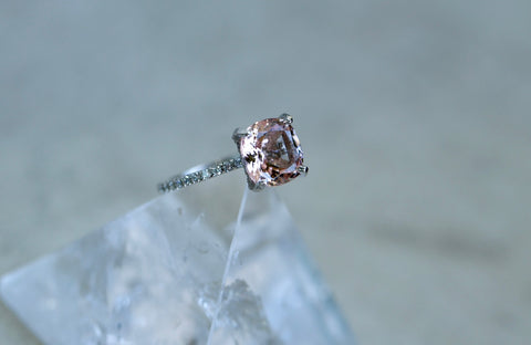 2.4ct Morganite Diamond Ring