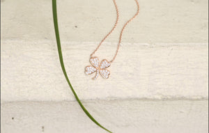 Lucky Clover Diamond Necklace