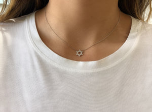 Star of David Cut Out Diamond Necklace