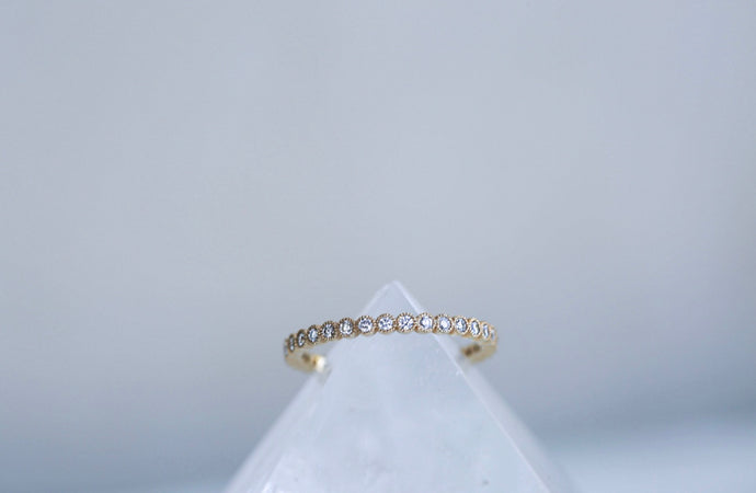 Milgrin Bezel Diamond Eternity Band