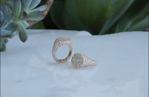 Signet Pave Diamond Ring