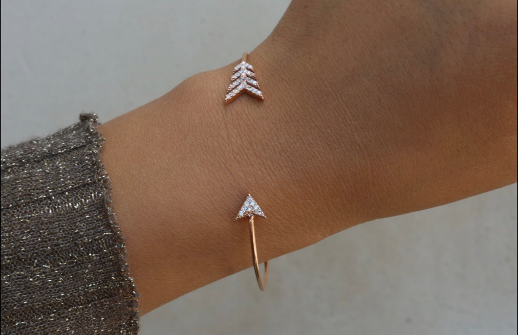Arrow Diamond Cuff