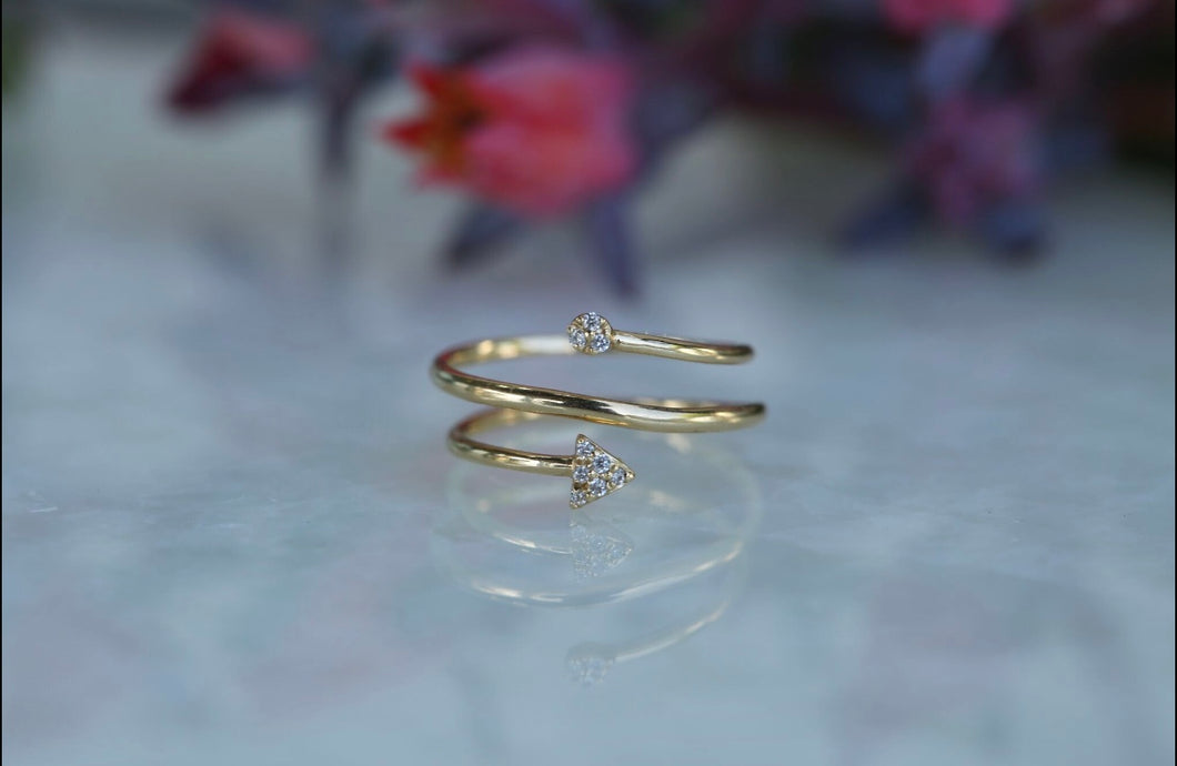 Arrow Wrap Diamond Ring