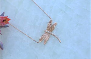 Dragonfly Diamond Necklace