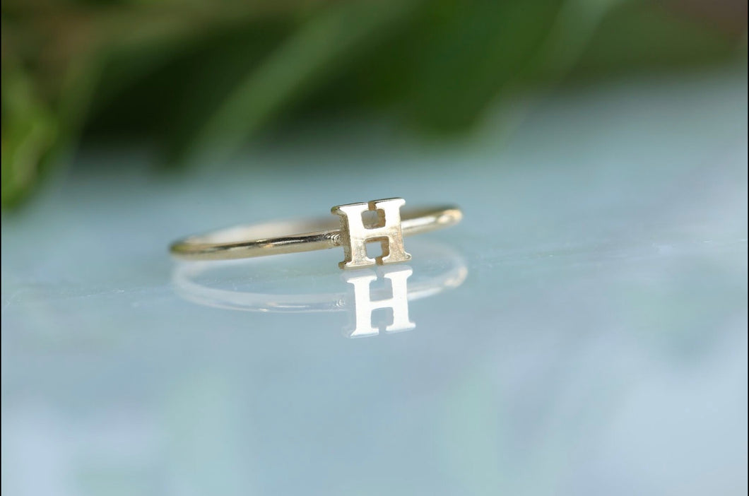 Block Initial Letter Ring