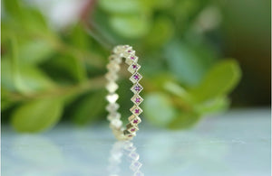 Square Ruby Eternity Band Ring