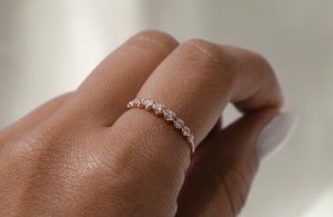 Rosebud Graduating Diamond Band Ring