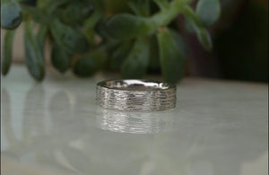 Men's Textured Band - 6.5mm