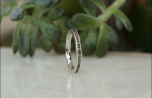 Raw Diamond Textured Mens Band