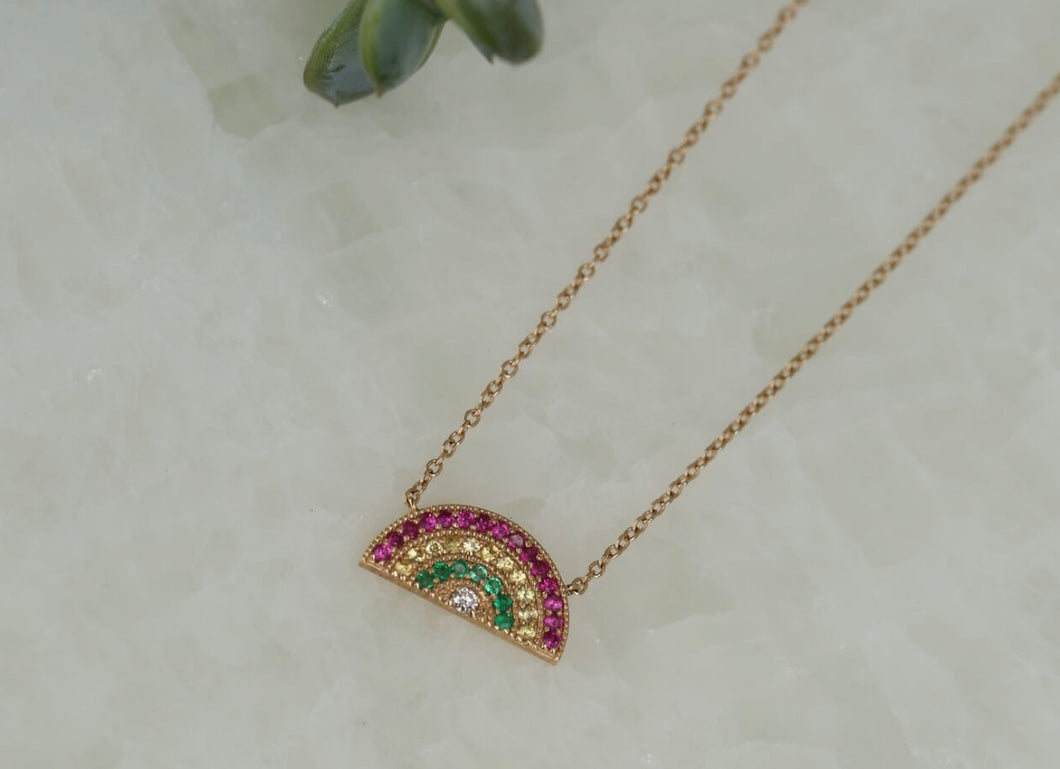 Small Rainbow Necklace