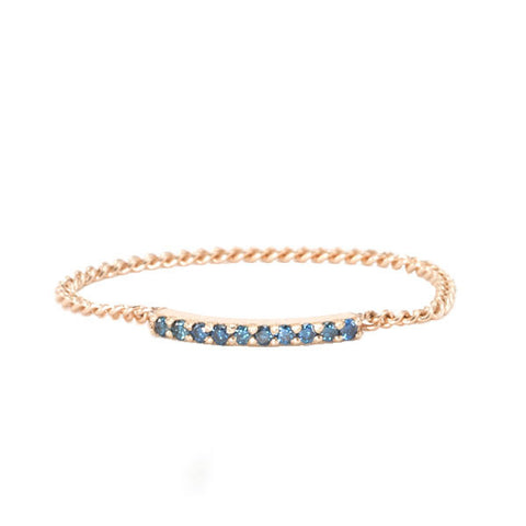 Blue Diamond Chain Ring