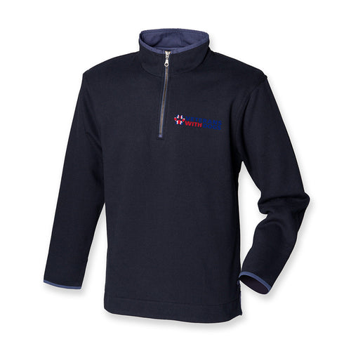 Quarter Zip Navy Jumper - Veterans With Dogs (VWD) Shop
