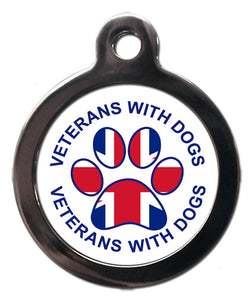 Dog Tag - Exclusive design for VWD - Veterans With Dogs (VWD) Shop