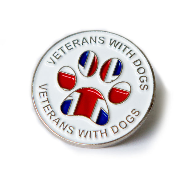 Pin Badge - Veterans With Dogs (VWD) Shop