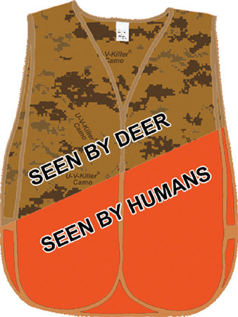 Can deer see orange vests?