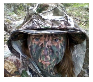 Facial paint for hunting