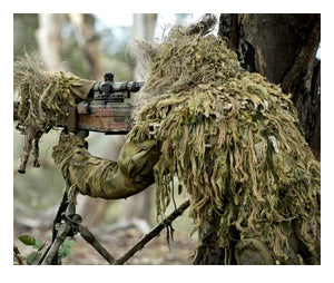 Precautions when using a ghillie suit