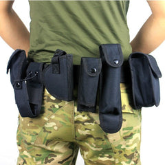 Tactical Belt With 9 Pouches Outdoor Utility Kit - GhillieSuitShop