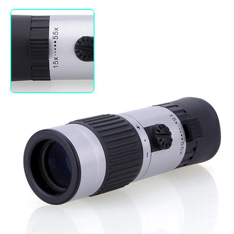 15-55x21 Power Zoomable Monocular Pocket For Hiking Camping - GhillieSuitShop