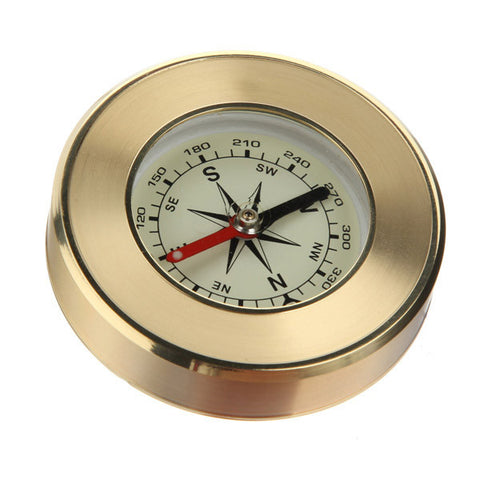 Portable Hand-held Precise Compass Navigation Gold - GhillieSuitShop