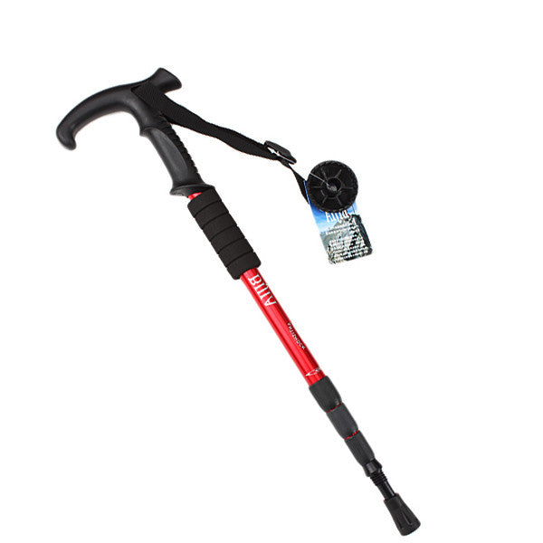Durable Adjustable AntiShock Hiking Cane Trekking Walking Crutches - GhillieSuitShop