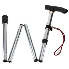 4 Sections Rubber Ferrule Aluminium Walking Stick for Outdoor Sports - GhillieSuitShop