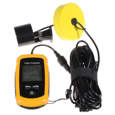 Sonar Sensor Fish Finder Alarm Beam Transducer 100m LCD Portable - GhillieSuitShop