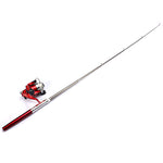 Mini Telescopic Portable Pocket Pen Fishing Rod Reel+Nylon Line set - GhillieSuitShop