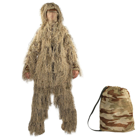 Hunting Desert 5 Piece Ghillie Suit Set- Ghillie Outdoor Gear