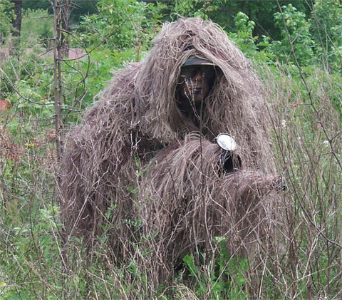 The Tracker Ghillie Poncho, Jute thread version - GhillieSuitShop