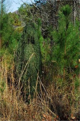 Leafy Green Ghillie Suit Poncho Jute Thread