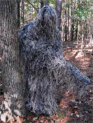 Mossy Ghillie Suit Poncho Jute Thread