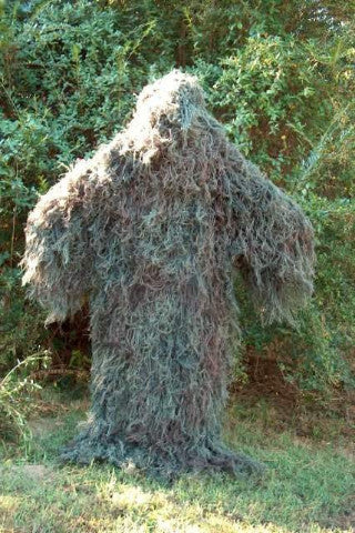 Woodland Ghillie Suit Poncho Jute Thread