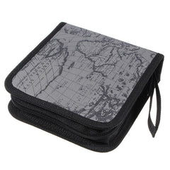 40 Disc CD DVD Album Holder Storage Case Bag Map Pattern - GhillieSuitShop