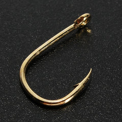 500pcs 10 Sizes Fresh Water Sea Fly Fishing Tackle Hooks With Box - GhillieSuitShop