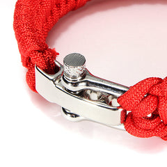 7-Stands ParaCord Bracelet With Zinc Alloy Shackle Buckle - GhillieSuitShop