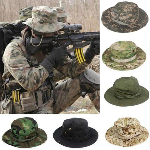 Tactical Combat Camo Hiking Cap Outdoor Army Sun Block Hat Cap Hiking - GhillieSuitShop