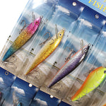 Fishing Lures 12 Kind of PVC Fishing Crankbait Minnow Poper Bass Baits - GhillieSuitShop