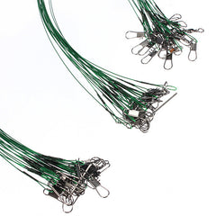 72x Fishing Lure Trace Stainless Steel Wire Spinner Line - GhillieSuitShop
