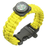 Tactical Paracord Outdoor Survival Bracelet Buckle Band Compass Whistle - GhillieSuitShop