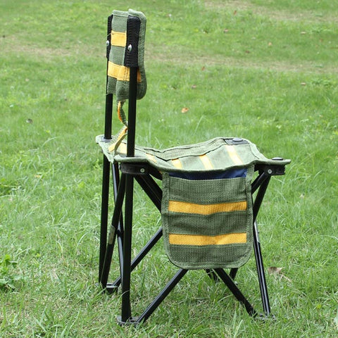Outdoor Portable Striped Chair Folding Fishing Chair Fishing Tools - GhillieSuitShop