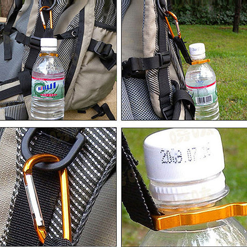 Aluminum Hanging Buckle Mineral Water Bottle Clip Drinks Bottle Buckle - GhillieSuitShop