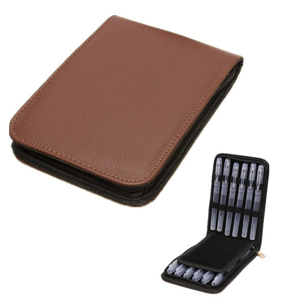 Traveling Outdoor Pen Leather Case Storage Bag For 12 Pens - GhillieSuitShop