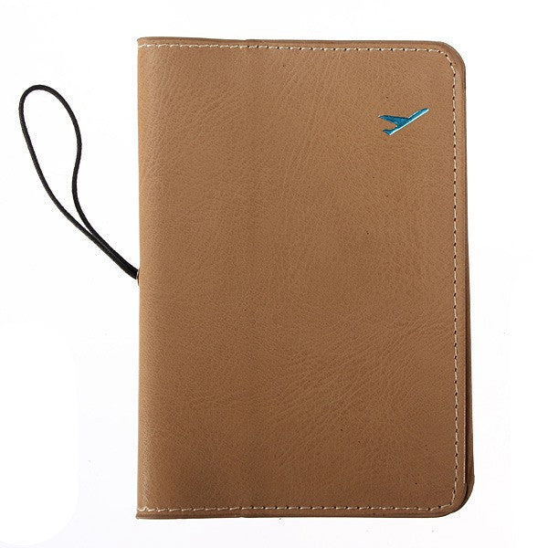 Traveling Leather Passport Card Case Document Holder - GhillieSuitShop