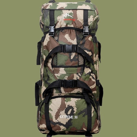 Tactical Camping Hiking Mountaineering Backpack 90L - GhillieSuitShop