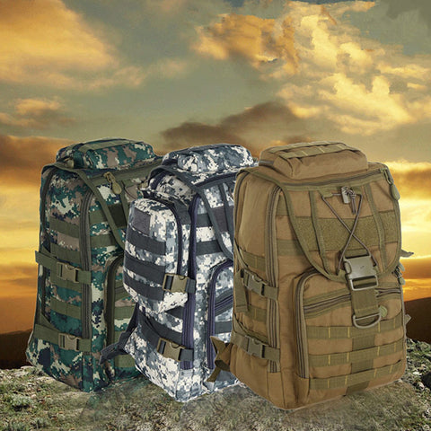 Tactical Camo Camping Backpack 40L - GhillieSuitShop