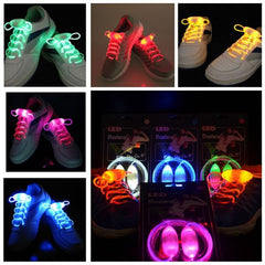 LED Shoelaces Flash Light Up Glow Stick Strap Party Eyes-catching Queen 3 Mode - GhillieSuitShop