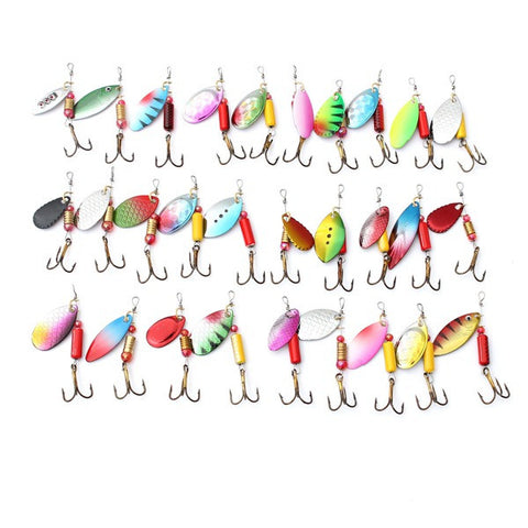 30pcs Metal Fishing Lures Spinner Baits Crankbait Assorted Tackle - GhillieSuitShop
