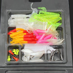 Soft Fishing Lures Bait Small Hooks Fishing Tackles Set - GhillieSuitShop